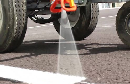line painting in a car park
