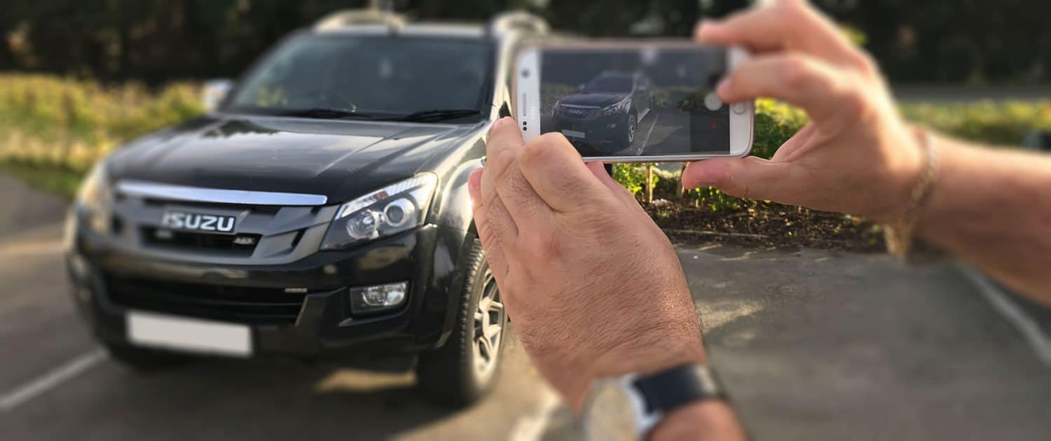 a client self ticketing a vehicle on private land